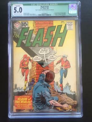 Flash #123 - CGC 5.0 IN- DC 1st GA Flash, Origins! 1st Mention of Earth 2!