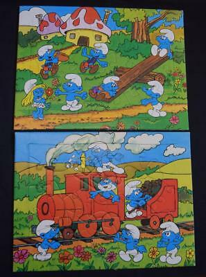 2x Vintage 1980's SMURF Jigsaw Puzzles 1981 BP good condition