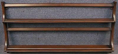 Ercol Solid Elm Hanging Plate / Wall Rack / Shelves Model 268 Traditional Finish