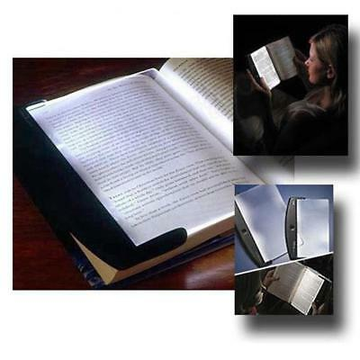 LED Light Wedge Panel Book Reading Lamp Paperback Battery Powered Night Vision》》