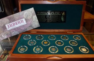 The Biblical Holy Land: JUDEA 14 Coin Collection From The Time Of Jesus,Boxed