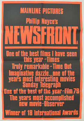 NEWSFRONT (1978) Original Double Crown Movie Poster - Phillip Noyce, Bill Hunter