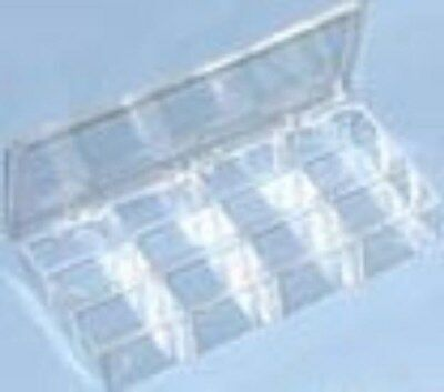 Jewelry Display Fixtures 2 NEW 10 COMPARTMENT CLEAR PLASTIC ORGANIZERS