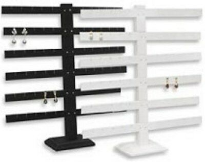 Jewelry Display Fixtures NEW SIX BAR EARRING DISPLAY HOLDS 30 PAIR WHITE