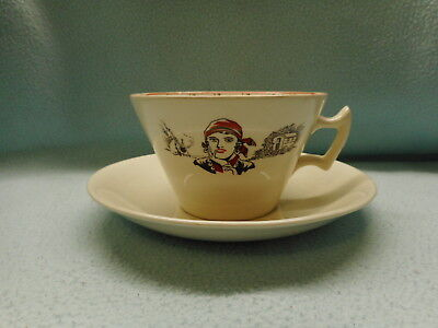 Extremely rare 1935 the Romany fortune telling tea cup And Saucer