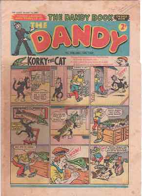 The Dandy comic no.838 (14th December 1957). 60th Birthday gift? Fair condition