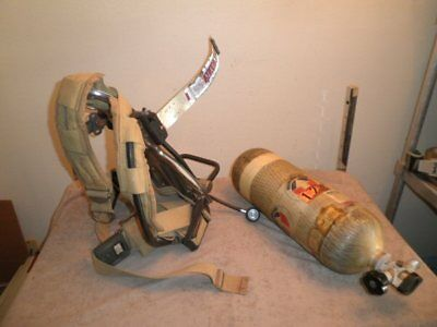 Survivair SCBA 45-Minute Air Tank 4500psi w/ CURRENT HYDRO & Harness Paintball