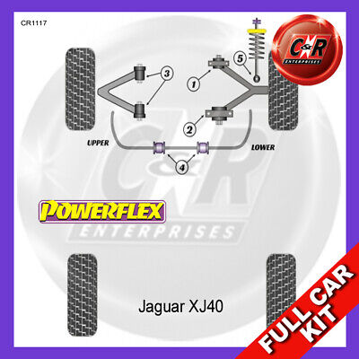 Jaguar XJ40 (1986-1994) Powerflex Komplett Bush Set