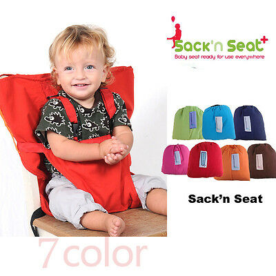 Baby Portable High Chair Feeding Seat Infant Travel Seat Safety Belt Cover Pro
