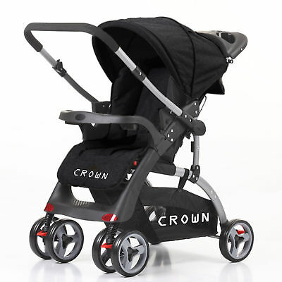 Child Stroller Buggy Reversible Handle 2 Directions Usable DualWay 6 Wheel 360°