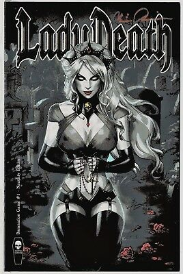 Lady Death Damnation Game 1 Naughty Edition signed Pulido COA FREE UK POST NM