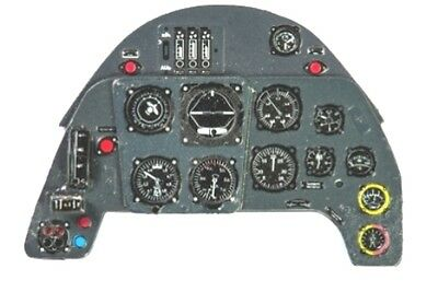 MESSERSCHMITT Bf 109 F /& G PHOTOETCHED COLORED INSTRUMENT PANEL #7220 1//72 YAHU