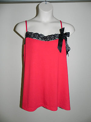 Tru To You By Cacique Cami Plus Size 14/16 Red Black NWOT