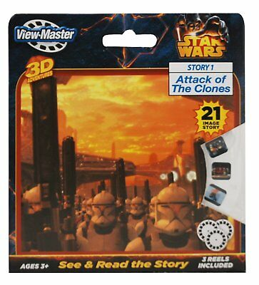 STAR WARS -Attack of the Clones View-Master Reel 3D  3 pack