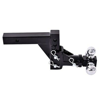 """3 Ball Swivel Adjustable Drop Turn Trailer Tow Hitch 1-7/8, 2, 2-5/16"""" Receiver"""