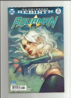 Aquaman Comic Book #26, DC Rebirth 2017, Middleton Dolphin Variant Cover