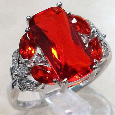 Natural Red Ruby Ring Oval Shape Gemstone Wedding Engagement Classic Ring Women