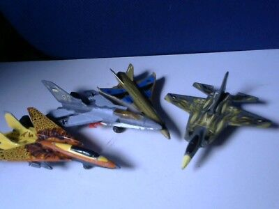 3 Die-Cast Matchbox and Other Brand Planes Plus 1 Plastic Hypersonic Jet