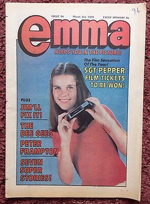 Emma Comic. 3 March 1979. No. 54.  Vfn+/nrmint. Peter Frampton, Bee Gees Feature