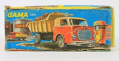 Gama 298 Blech Plastic LKW Includes packaging Blechspielzeug Tin toy.