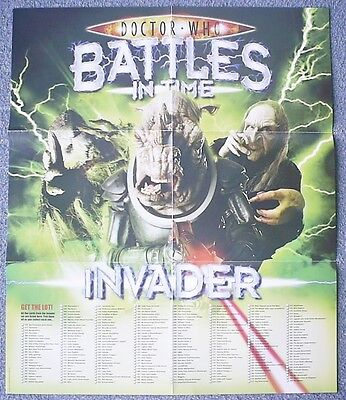 Dr Doctor Who Battles in Time Invader Poster 50 by 59cm approximately VGC