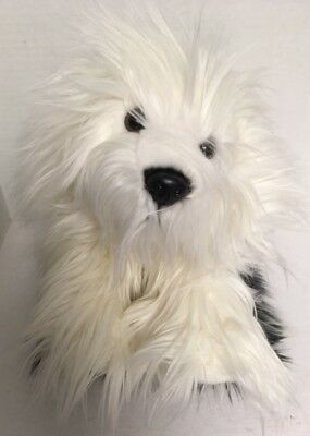 "Keel OLD ENGLISH SHEEPDOG 12"" Plush Sheep Shaggy Dog Puppy Stuffed Animal Toy"