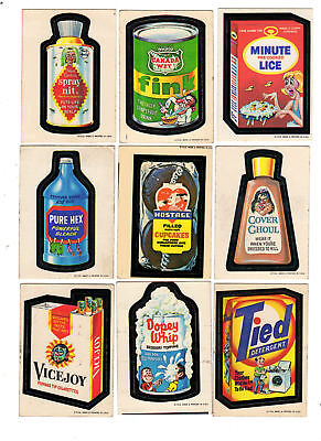 1973 Topps Wacky Packages 1st Series Complete Band Ache Set 30/30 EX-