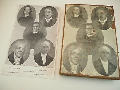 Vintage Moravian Archives Printing Plate Bethlehem Pa Missionary Native American