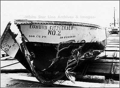 Poster Print: Lifeboat Of Edmund Fitzgerald On Rescue Freighter, November, 1975