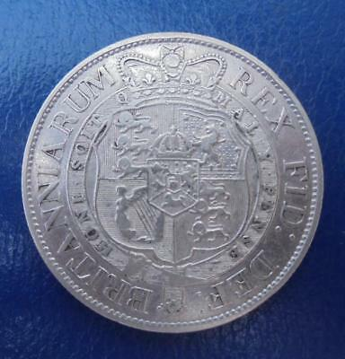 Great Britain King George III 1818 Silver Half Crown Coin Good Very Fine