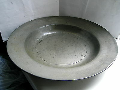 Antique Pewter bowl Pseudo London Hallmarks Continental early 1800s