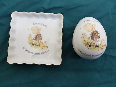 holly hobbie pin dish and trinket holder a true friend is the best possession