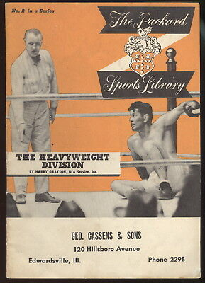 1951 Booklet, The Packard Sports Library, Heavyweight Boxing History, Joe Louis+