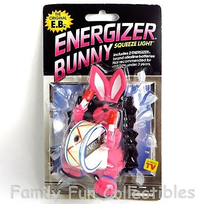 EVEREADY~1991 Squeeze Light~Energizer Bunny~Advertising Mascot Flashlight~A~NOC
