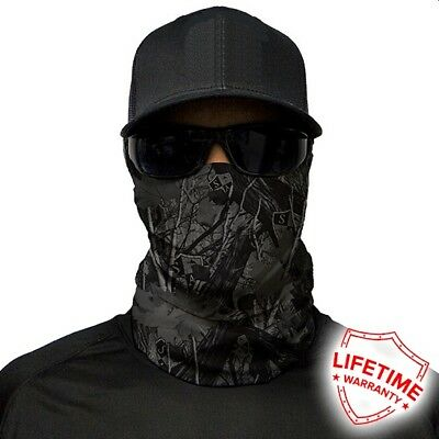 MOTORCYCLE FACE MASK - FOREST CAMO BLACKOUT - (Moto, Hunting, Fishing, Gym)