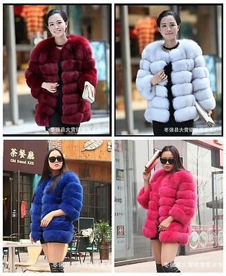 Fashion Women Winter Warm Outwear Coat Lady Slim Faux Fur Waistcoat Jacket Coat