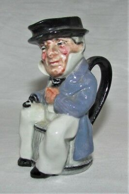 Vintage Artone Miniature Toby Jug - Character Captain Cuttle - British Pottery