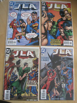 "JLA  43-46 ""TOWER of BABEL"" COMPLETE 4 ISSUE STORY.1997 DC JUSTICE LEAGUE SERIES"