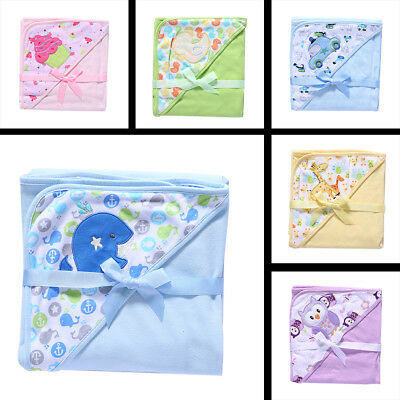 Baby Bath Towel Kids Cartoon Animal Infant Hooded Bathrobe Blankets Swaddle