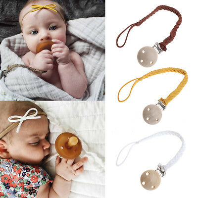 Baby Infant Braided Pacifier Clips Holder BPA Free Nipple Soother Chain Strap