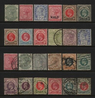Natal Collection 24 QV / KEVII Values Used / Unused Mounted