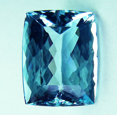 NATURAL 11.45ct !!  AQUAMARINE EXPERTLY FACETED IN GERMANY +CERTIFICATE INCLUDED