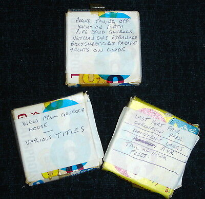 Vintage Gratispool 8mm Films x 3 Amateur Home Movies Boxed Holiday Scotland