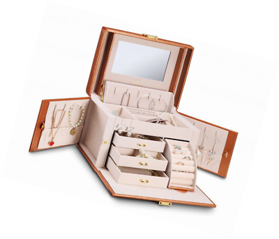Vlando Rectangular Leather Jewellery Box Organiser