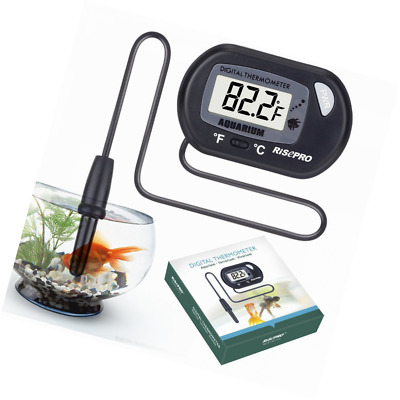 Aquarium Thermometer, RISEPRO Digital Water Thermometer