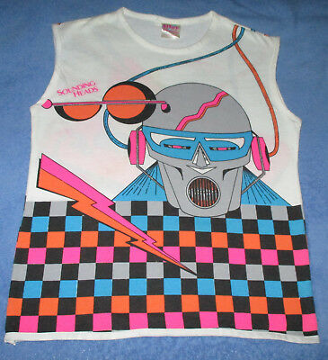 Vintage 1986 Sounding Heads by NIKRY Glam Pop Rock Electronica Md T-shirt