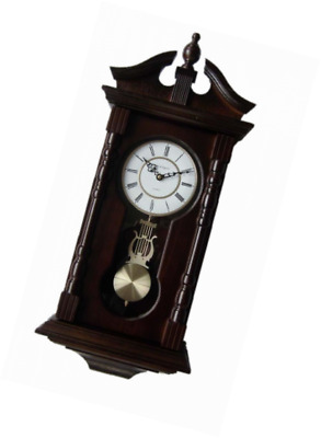 Wall Clocks: Grandfather Wood Wall Clock with Chime