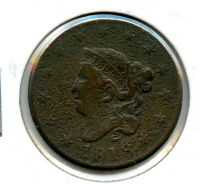 Outstanding 1818 Liberty Head Large Cent Coin RN176