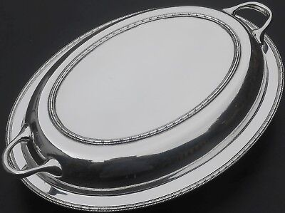 Vintage Entree / Serving Dish - Tight Bead - Deakin Sheffield - Silver Plated