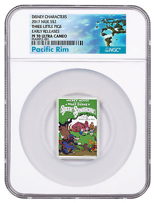 2017 Niue Disney Posters of 1930s 3-Little Pigs 1 oz Silver NGC PF70 ER SKU50221